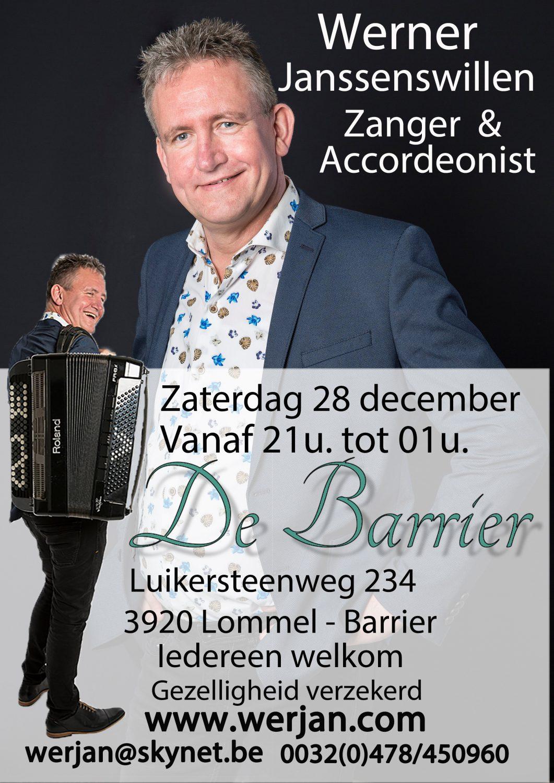Optreden De Barrier in Lommel
